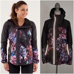 Rare Lululemon Get Up And Glow Jacket Floral